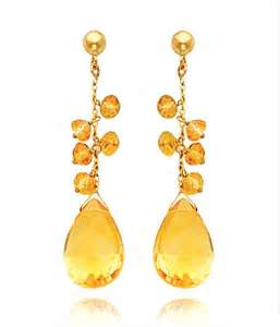Citrine earrings www.jewelrybloguncovered.com I