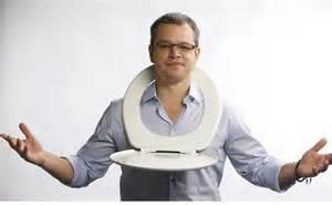 1 Matt Damon with toilet
