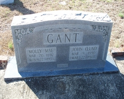 1 John and Molly Gant Tombstone