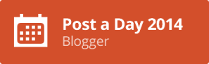1 A Post A Day Blogger 2014