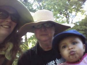 Debra, Phoenix, and Rachel Planting a Garden April 2014
