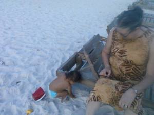 MeeMaw and Phoenix Playing in the Sand.jpg 1