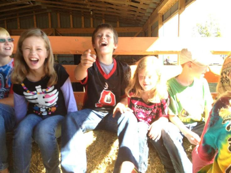Dessa and Zoey Hay ride