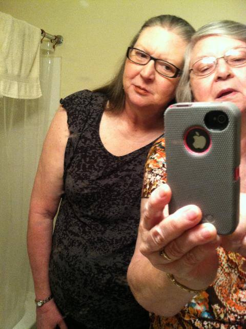 Selfie with mom
