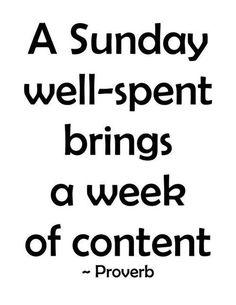 Sunday Proverb
